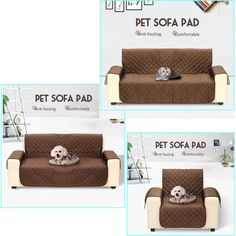 1/2/3 Seat Quilted Reversible Pet Dog Couch Sofa Chair Furniture Protector Cover #MATCC