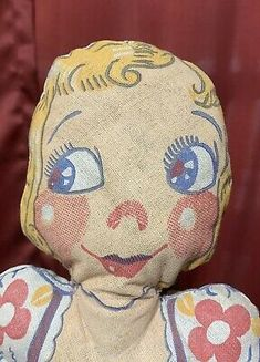 """Vintage Cloth Advertising Promo Doll Franklin's Double XX Ice Cream Parkview 14"""" 