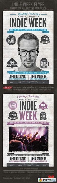 Indie Week Flyer/Poster 3552627