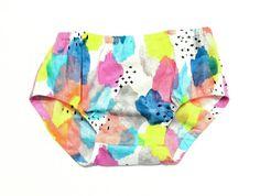 Organic Brushstrokes Diaper Cover by JunebuggsHatchlings on Etsy