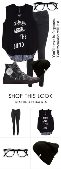"""""""I am the Band"""" by xxonyx-lightwaterxx ❤ liked on Polyvore featuring Frame Denim, Melissa McCarthy Seven7, Vans, Converse and plus size clothing"""