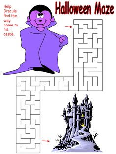 halloween maze dracula