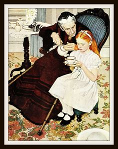 Image result for grandmother teaching me to be a lady norman rockwell