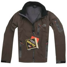 Cheap Men North Face Pro Shell Jacket Brown uk www.outdoorgeargals.com