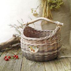 Короб-кузовок плетеный 'Шиповник'