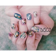 Asian Nail Art, Asian Nails, Cat Nail Art, Cat Nails, Bed Of Nails, Hair And Nails, Kawaii Nails, Galaxy Nails, Pretty Nail Art