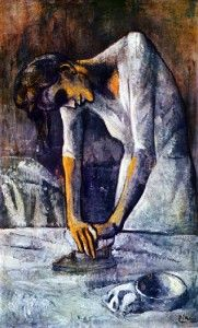 Picasso, Femme au repassage (1904)