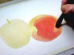 watercolor tutorial apples