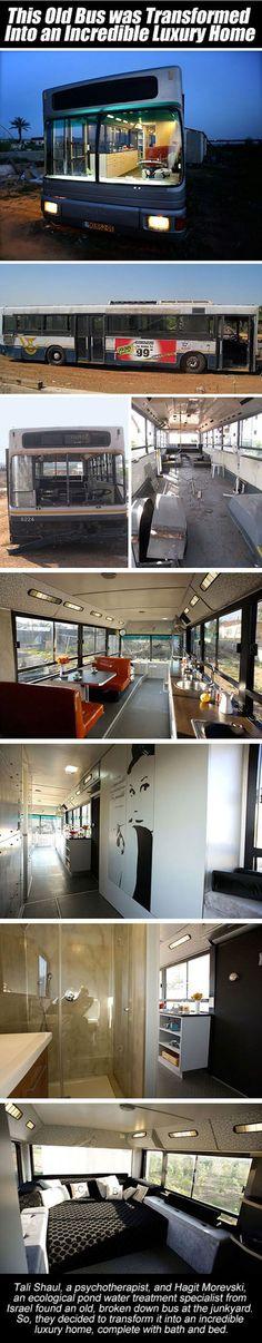 Uou Ideia incrível So n gostei mt do estilo E tem o problema de estacionar e locomover um ônibus pra sertos lugares