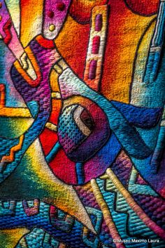 """Detail of Tapestry """"Passionate Times"""" #artsy #tapestry #textile #beautiful…"""