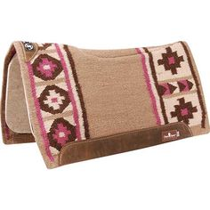 Classic Equine Zone Series Blanket Top Saddle Pad 32X34- Tan and Pink  http://shop.coolhorse.com/store/product/ZBT3215TNPK