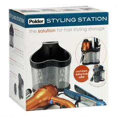 Polder® Hair Care Styling Station in Black | Christmas Tree Shops andThat!