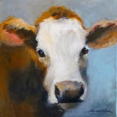 images of rooster painted with acrylics   Normas Daily Paintings: Original Acrylic Cow Cattle Painting Art