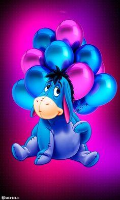 Happy birthday Eeyore May 1871 Cute Winnie The Pooh, Winnie The Pooh Quotes, Cute Disney Wallpaper, Cartoon Wallpaper, Pooh Bear, Tigger, Eeyore Pictures, Eeyore Images, Eeyore Quotes