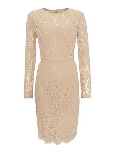 Now £60.00 Long sleeve all over lace dress