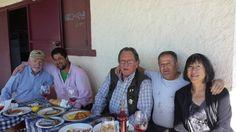 Bon Pat Hartline, Alberto Merino, Gerry Dawes, The Spanish Artisan Wine Group - Gerry Dawes Selections, Eugenio Manuel Merino, Viña Catajarros, Lisbeth Suyehira Hartline at Viña Catajarros.  Photo by Julio Manuel Merino.