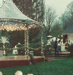 Love the lighted gazebo. #TwilightInspired #EdwardandBella