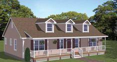 Plan #474-01 - 3 Bedroom,  2 Bath, 1381/Sqft Country Home