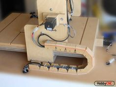 DIY CNC Router Plans make a great starting point for building an inexpensive CNC router from readily available parts and materials. Entire CNC Router can be made from one sheet of plywood! Cnc Router Plans, Diy Cnc Router, Cnc Projects, Woodworking Projects, Woodworking Furniture, Furniture Plans, Kids Furniture, Wooden Speakers, Arduino Cnc