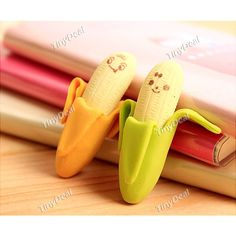 2pc Creative Banana Shaped Erasers Study Stationery Tools Study Items for Kids - Assorted Color http://www.tinydeal.com/2pc-creative-px24ck0-p-119968.html