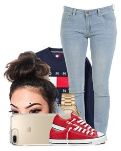 """107"" by jalay ❤ liked on Polyvore featuring Tommy Hilfiger, Michael Kors, Speck and Converse"