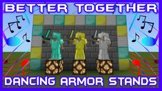 This is my full tutorial on how to make armor stands dance in your Minecraft Bedrock Edition survival worlds. These dancing armor stands are sure to liven up. Minecraft Videos, Cool Minecraft, Minecraft Projects, Minecraft Party, Minecraft Mansion, Minecraft Houses, Minecraft Redstone, Minecraft Decorations, Better Together