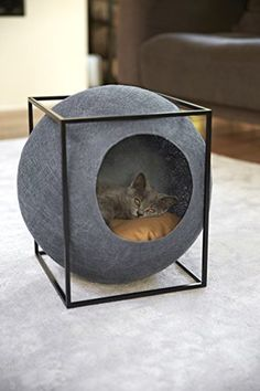 20 Cool Cat Beds For Your Furry Friend - Kitties - Katzen Cool Cat Beds, Cool Cats, Crazy Cat Lady, Crazy Cats, Cat Room, Pet Furniture, Furniture Design, Modern Cat Furniture, Furniture Makeover