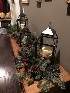 11 Cozy Farmhouse Christmas Home Tour at Night 6 Gift ideas: Christmas is coming Christmas or the Christ event, the Festival of lights, the Party of peace, or the Christ. Gold Christmas Decorations, Christmas Lanterns, Christmas Door, Christmas Wreaths, Christmas Crafts, Christmas Time, Tv Stand Christmas Decor, Winter Decorations, Coffee Table Christmas Decor