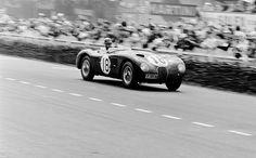 Tony Rolt / Duncan Hamilton (Jaguat C-Type) vainqueur des 24 Heures du Mans 1953.