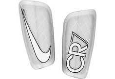 Nike Mercurial Lite Shin Guards - Silver and White Play Soccer, Nike Soccer, Soccer Ball, Soccer Stuff, Football Gear, Football Stuff, Superfly Soccer Cleats, Cheap Nba Jerseys, Nike Cleats