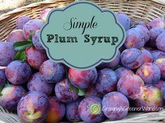 Simple Plum Syrup - Theresa Loe - GrowingAGreenerWorld.com