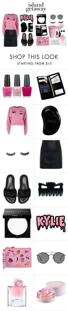 """Island Getaway !"" by milsky ❤ liked on Polyvore featuring OPI, Royce Leather, Chiara Ferragni, Tangle Teezer, McQ by Alexander McQueen, Puma, Bobbi Brown Cosmetics, KRISVANASSCHE, Moschino and Ray-Ban"