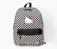VANS x Hello Kitty Backpack: Checkerboard (@Kris S~ reminded me of Vans! Then I saw... It was Vans lol)