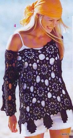 MADE TO ORDER summer women crochet blouse in any size by AsDidy, $108.00