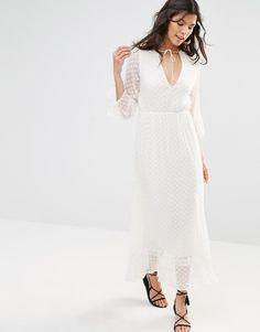Image 1 ofStevie May Textured Longsleeve Maxi Dress