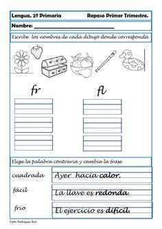 Comparte !!Facebook0TwitterGoogle+0Pinterest0 Recursos para el aula: Ejercicios de lengua para 2º Primaria Os dejamos nuevos ejercicios de lengua para repasar