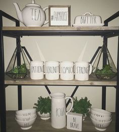 Thank you myfarmynest your new industrial shelves look great and the farmhouse sign fits perfect. Rae Dunn, farmhouse mini sign ,farmhouse mini sign,coffee station sign,coffee bar sign