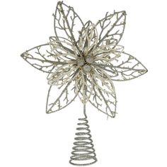Poinsettia Christmas Tree Topper