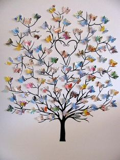 Mini Butterfly Tree created from a used copy of LOVE YOU FOREVER, the beloved classic by Robert Munsch. Tree of Mini Butterflies Upcycled Anne of Green Gables, Love You Forever or Your Choice of Book/Personalized at Bottom/Made to Order / picronom. 15 Way Butterfly Tree, Butterfly Wall Decor, Rainbow Butterfly, Butterflies, Origami Butterfly, Butterfly Canvas, Diy Butterfly Decorations, Butterfly Place, Butterfly Crafts