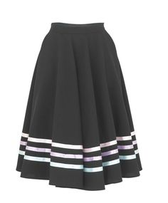 PerfectDi RAD style Black Character Skirt with Pastel Coloured Ribbons Blue Pink Lilac