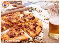 Pizza bianca alla boscaiola