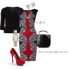 """""""Red Print"""" by lisa-eurica on Polyvore"""
