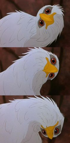 The Rescuers Down Under . I loved when the eagle turned his head xD