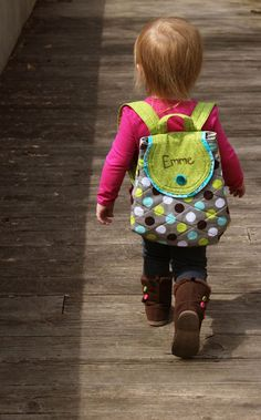 Personalized Toddler Backpack for Girls MADE TO ORDER