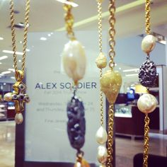 If you are in Richmond, make sure to stop by #saks & check out latest collection by #alexsoldier today and tomorrow! #richmond #cjdgjewelers #pfw #lovegold