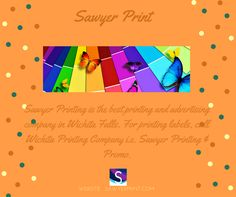 Get the best printing services in Wichita Falls. Visit at - http://Sawyerprint.com