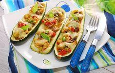 Low Calorie Dinner Recipes - Beef Stuffed Zucchini Recipe