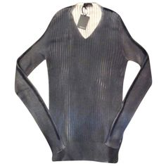 """Pre-owned Avant Toi """"avant Toi"""" Sweater (260 CAD) ❤ liked on Polyvore featuring tops, sweaters, grey, gray sweater, avant toi, gray top, grey top and relaxed fit tops"""