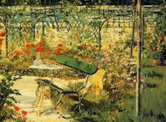 Edouard Manet The Garden at Versailles detail , De