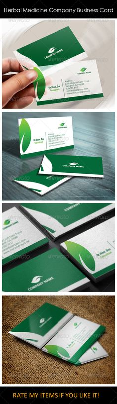 Herbal Medicine Company Business Card Templates